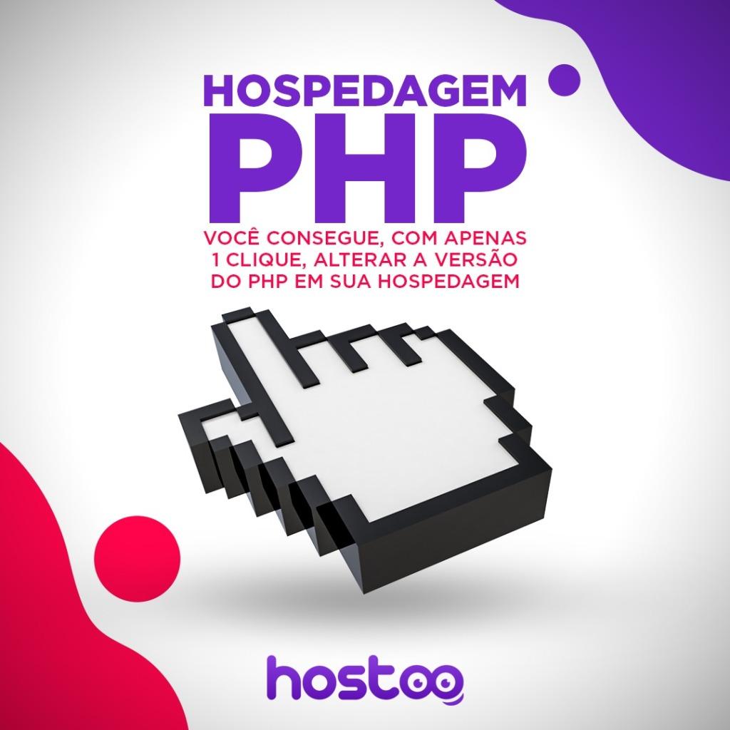 selecionar php na hospedagem hostoo